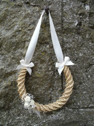 Horseshoe with Artificial Flowers